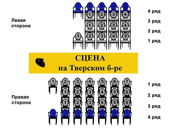 Схема мест зрительного зала фото 333